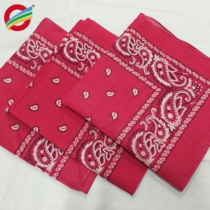 Custom design 100% cotton square headscarf