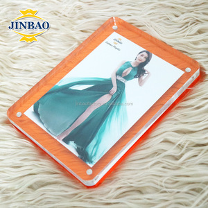 JINBAO mini acrylic 5x5 magnetic photo frame certificate frames manufacturer