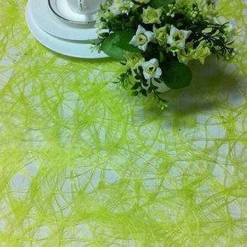 Cheap Lime Green Sizo Web Table Runner For Wedding