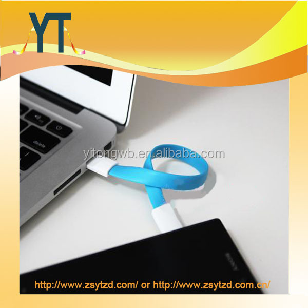 Factory price flat magnetic colorful usb cable for samsung for smart phone