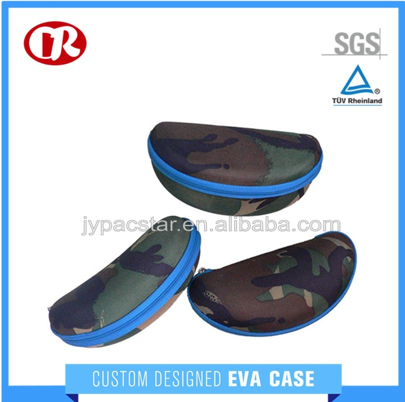 600D polyester material eco-friendly camouflage color leather sunglasses case