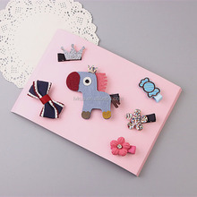 RAINSGIFT Cute Stars Fish Bear Crown Hair Clips Set with Exquisite Package Box for Girls Birthday Gift