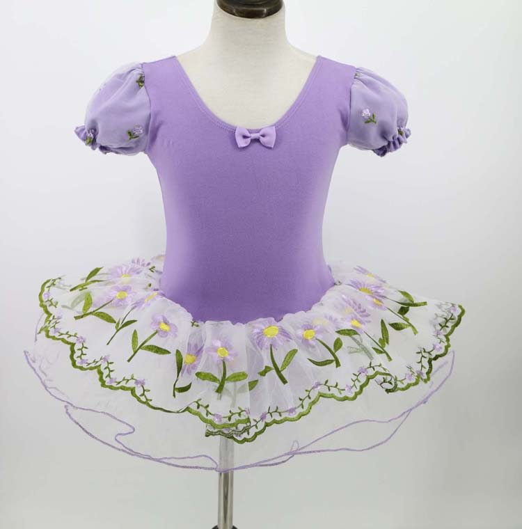 Wholesale Professional Embroidered Skirt Attached Ballet Dress Dance Costumes for Children
