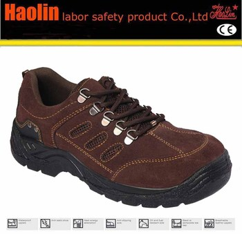 Suede Leather Red Wine Safety Shoes,Woodland Breathable Safety ...