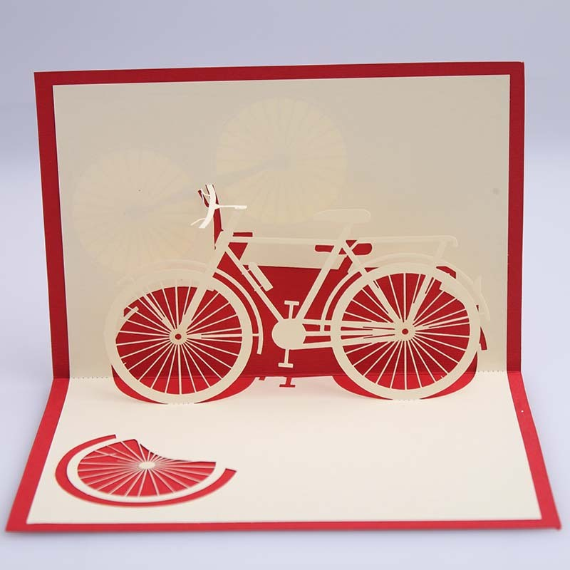 3d Postcard Greeting Cards Kirigami Paper Hollow Retro Vintage ...