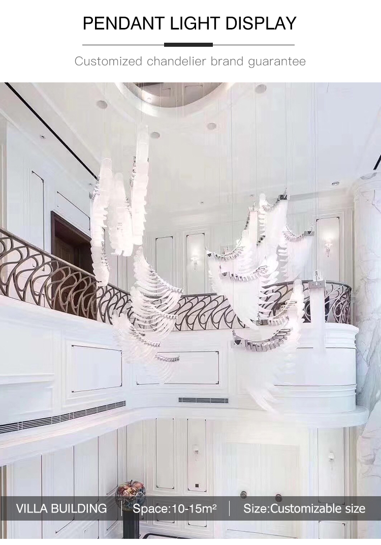Chinese supply Competitive price Good quality murano glass chandelier pendant light