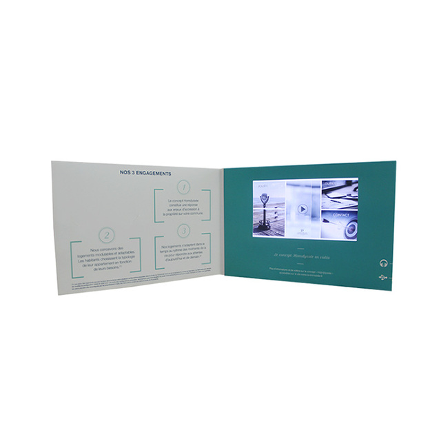 Buy cheap china business card design price products find china design 7 inch 128m a4 business greeting gift name wedding lcd screen video player brochure in colourmoves