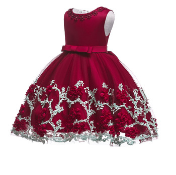 latest fashion teenage frock party kids baby girl dresses for children fancy flower petal evening little clothes with fair price