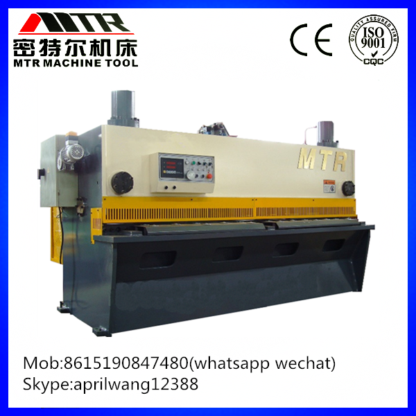 Hydraulic electric guillotine stainless steel plate swing shearing cutting machine(QC11Y-25*2500)