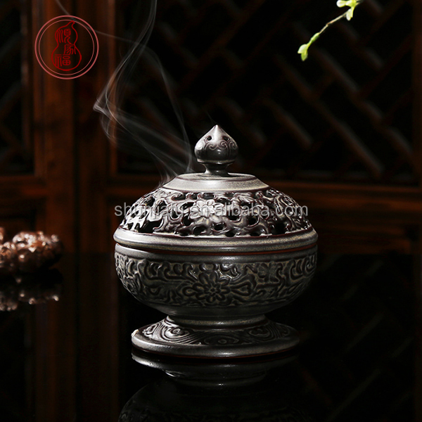 Buddhist Worship Supplies Exquisite Ceramic Incense Burner