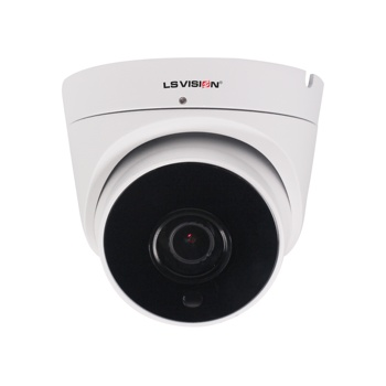 LS VISION New Mini Fixed Lens 3.6mm IR 10-15M 2592*1944 5MP High Resolution IP Dome Camera with Built-in Mic