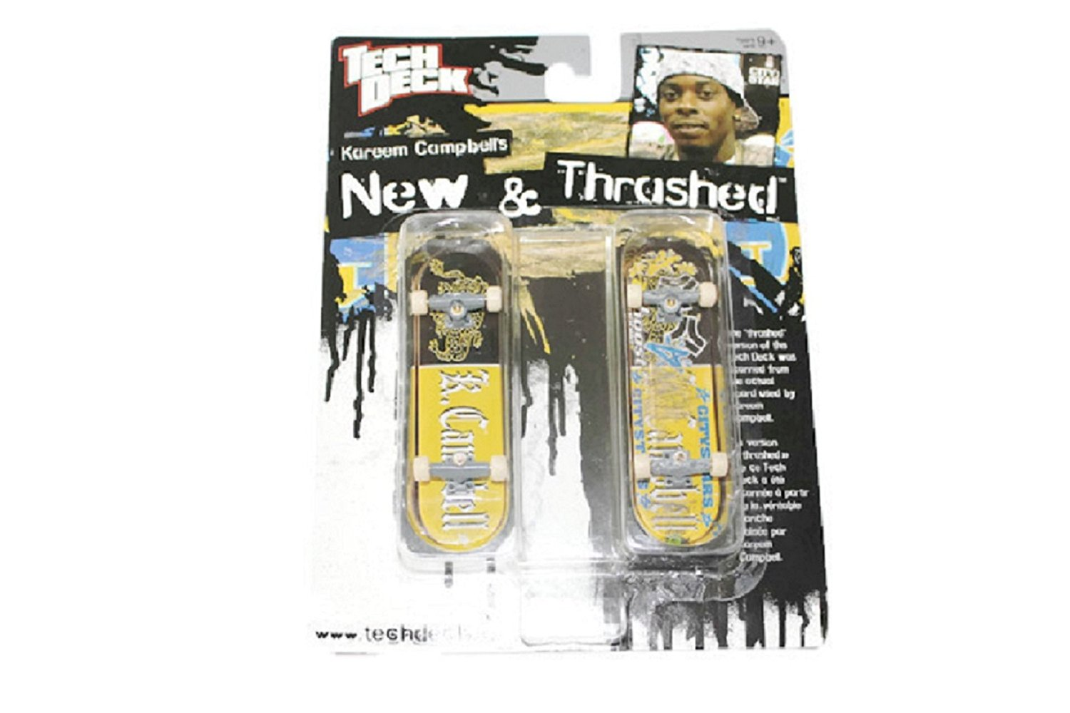 Buy Tech Deck New And Thrashed Kareem Campbell City Stars 96mm