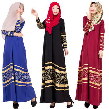 Fashion soft cheap cotton Muslim sequin dress arabic islamic abaya dress for women