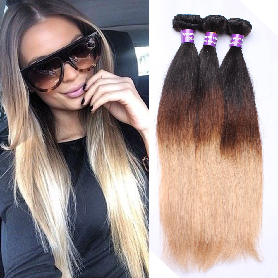Aliexpress.com : Buy Ombre Hair Extensions Peruvian Virgin ...