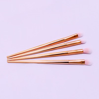 Factory direct sale cheap 4pcs rose gold cosmetic brush set brush makeup brush
