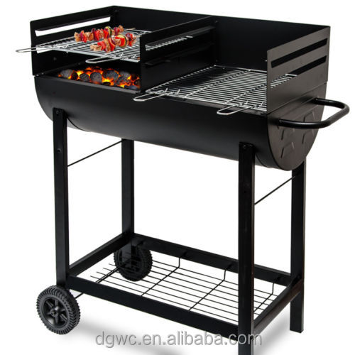 Barrel Double Bbq Charcoal Grill