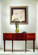 modern wooden hotel hall way console table furniture