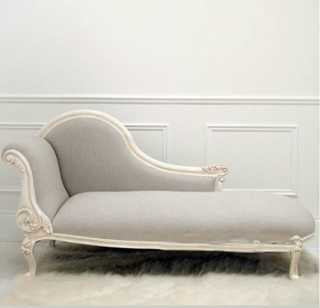 Antique Design Kids Royal Carved Chaise Lounge Chair American Style Linen Toddler Chairs