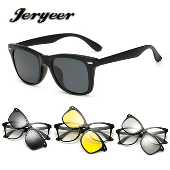 39baef657a6 2018 hot sale fashion magnetic clip-on polarized sunglasses TR90 have stock novelty  clip on
