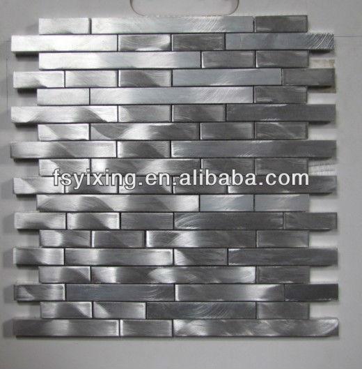 nuevos productos para la pared interior del panel de aluminio tira mosaico para hotel