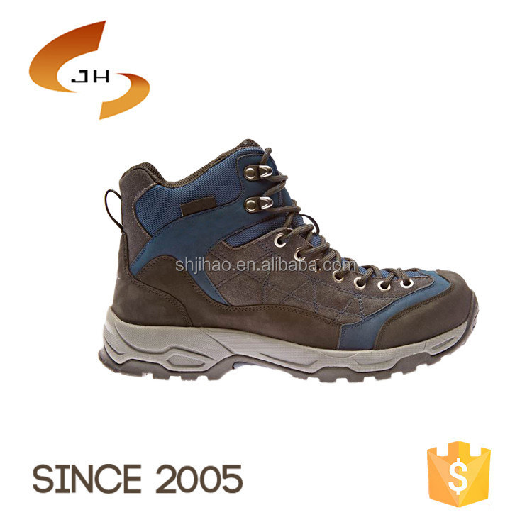 Cheap classic high ankle durable genuine leather military shoes zapatos waterproof hiking boots