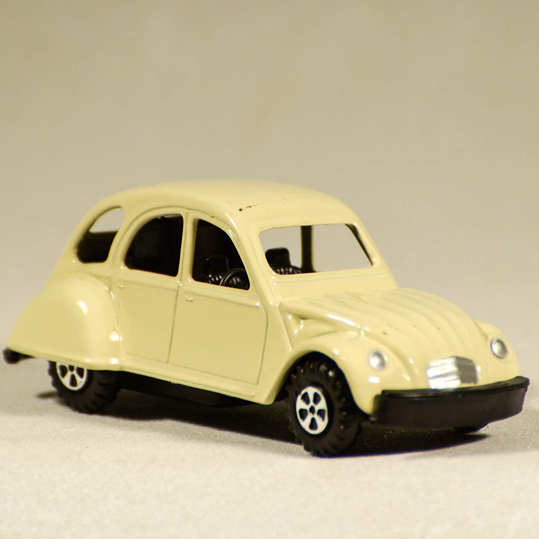 Miniature Creamy 2CV Car Miniature - Die Cast Pencil Sharpener