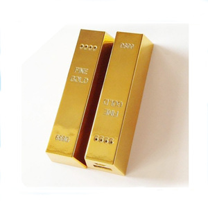 New products 2017 Innovative Ideas Mobile Power 2600 mah golden Wholesale mini gold power bank