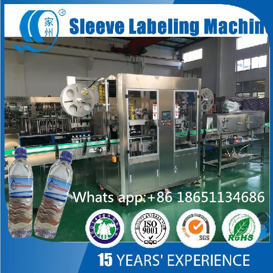 Juice Cap Shrink Sleeve Cutting Packing Labeling Machine