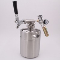 strong and durable stainless steel Draft beer dispenser keg with faucet