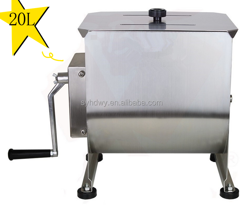 stainless steel sausage maker manual 20L meat grinder , meat mixer , meat blender