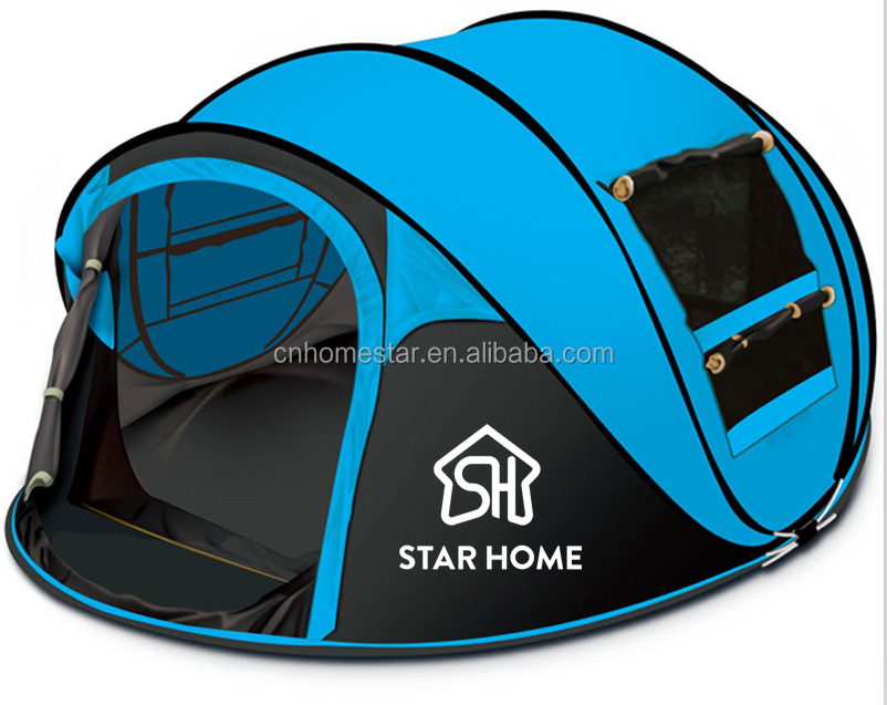STAR HOME high quality Automatic Opening 3-4 Person Outdoor Camping Hiking Tent Instant Pop Up tent