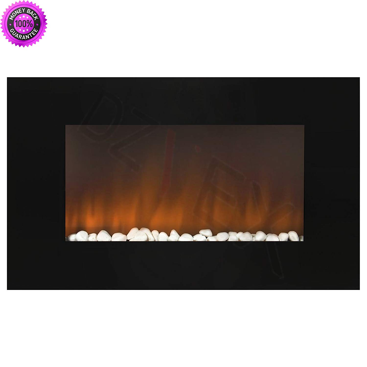 """DzVeX_1500W Heat Adjustable 36"""" Wall Mount Electric Fireplace MultiColor LED Backlight And wood burning fireplaces electric fireplaces clearance home depot home depot fireplaces off gas fireplac"""