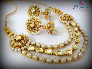 15e94e1217306 Indian Kundan Meenakari Jadau Bridal Necklace Set-bridal Jewellery Set  Wholesale - Buy Kundan Jewellery Sets,Indian Bridal Pearl Jewellery ...
