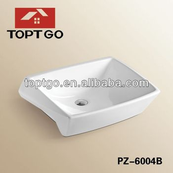 Wash Sink Without Tap Hole Small Bathroom Sinks Ceramic