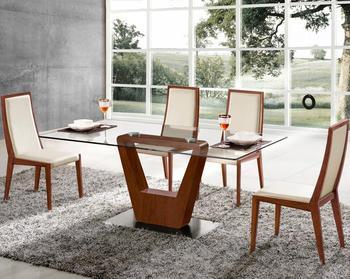 china furniture modern square glass dining table wooden base table - Square Glass Dining Table