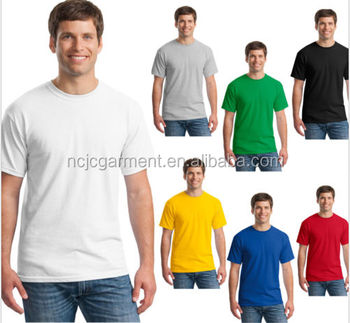 New Mens Basic Plain T-Shirts Short Sleeve Cotton Casual Tees Crew Tops