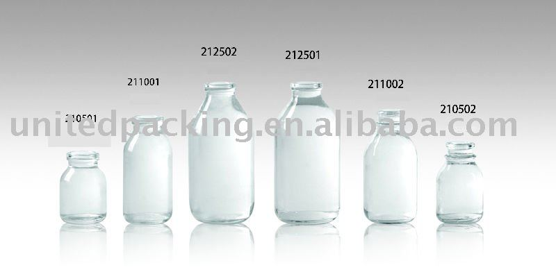 50ml to 100ml clear glass infusion bottles