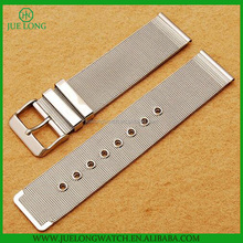 Hot Selling Stainless Steel Silver Mesh Replace Wristband With Hole Strap