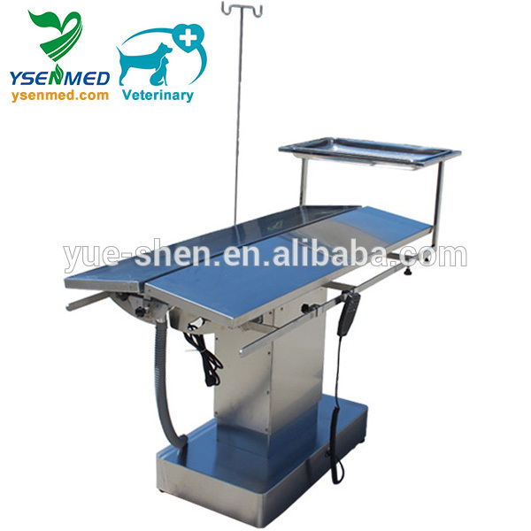 YSVET0504 Hot Sale Stainless Steel Electric Animal Surgery Table Price For Sale