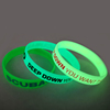 Custom Luminous Silicone Bracelet, Glow In Dark Silicone Bracelet