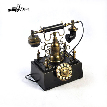 Cy050 Wholesale Telephone Model Vintage Home Decor Retro Handmade Craft  From Waste Material