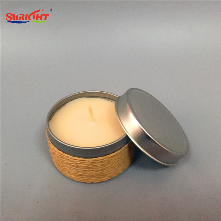 Decorative candle tins custom scented candles tin lid candle
