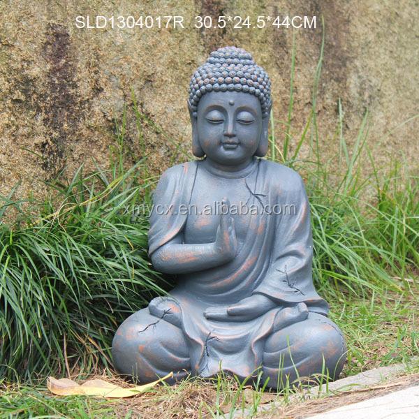 Meditating Religious Garden Decor Sculpture Stone Buddha Statues