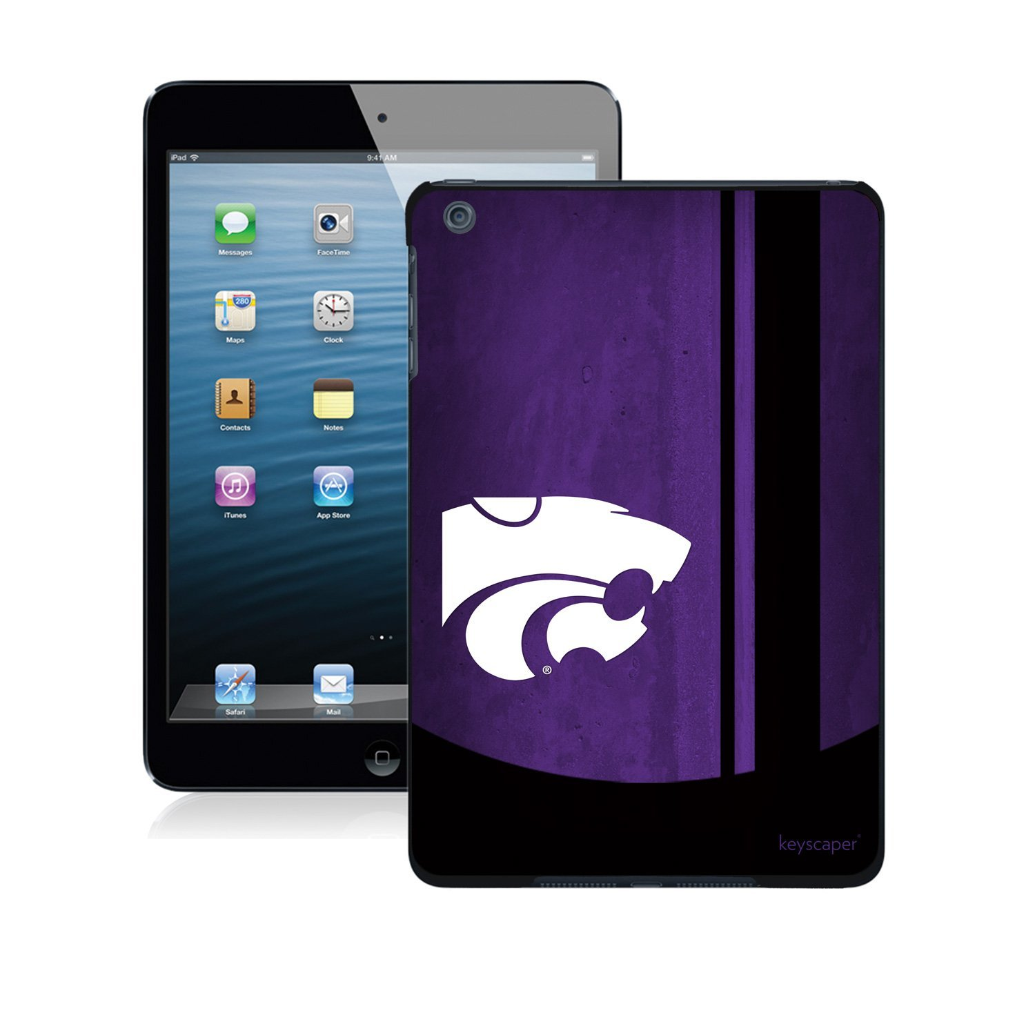 Kansas State Wildcats iPad Mini Case officially licensed by Kansas State University for the Apple iPad Mini by keyscaper®
