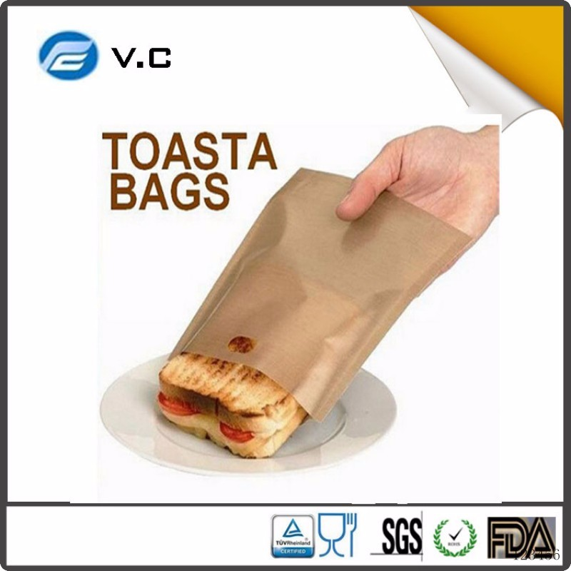 Amazon Top Selling PFOA blue non-toxic ptfe non-stick heat-resistance toaster bag
