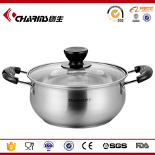 stainless steel parini cookware casserole with bakelit knob