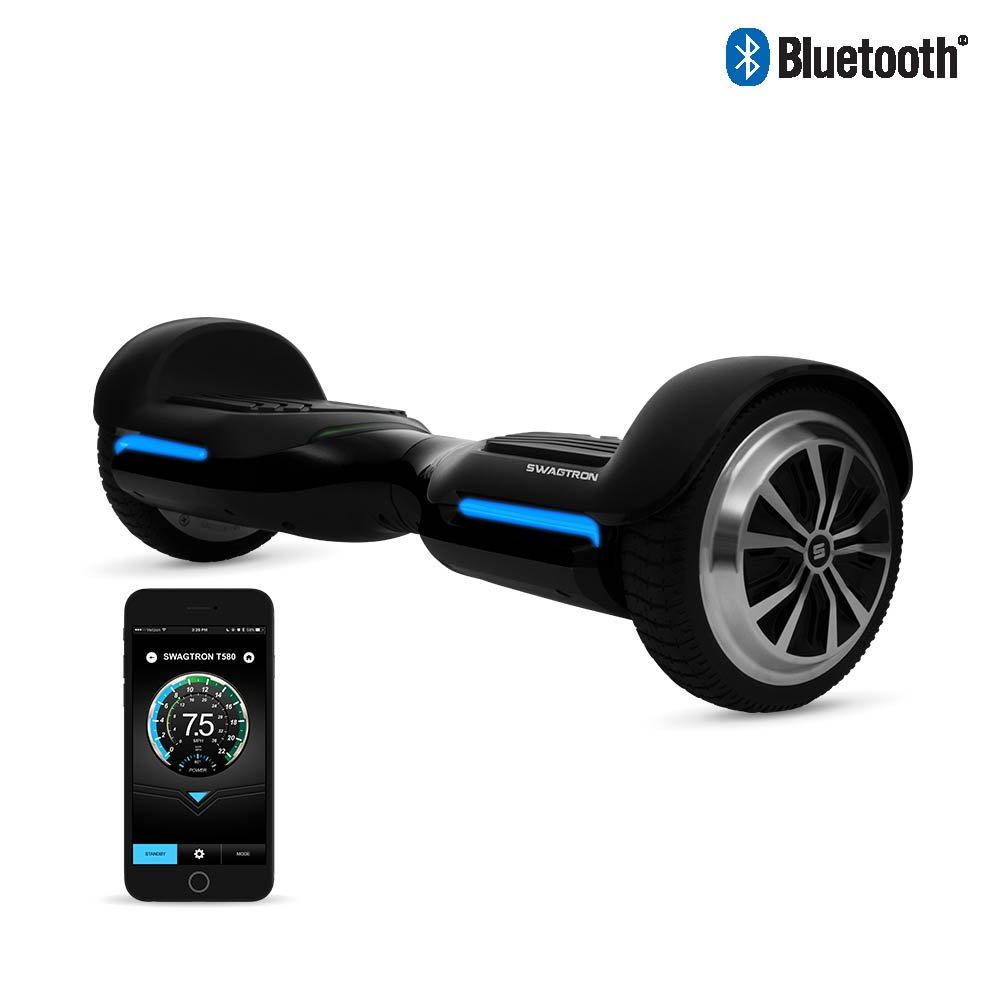 Swagtron T580 Youth Bluetooth Hoverboard with Speaker Smart Self Balancing Wheel (Certified Refurbished)