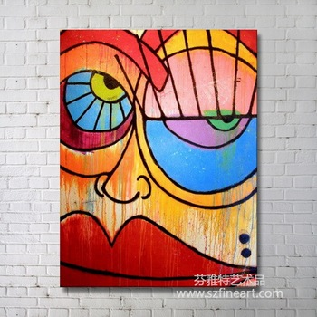 Decorative Face Abstract Oil Painting Buy Canvas Oil Painting