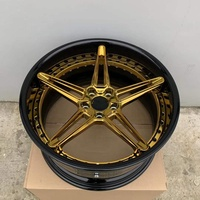 2019 Hot forged black and chrome gold 5x139.7 car rims 19 inch concave wheels