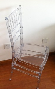 Durable Clear/Transparent outdoor plastic/resin Tiffany/Chiavari chairs for sale
